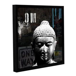 ArtWall Linda Woods's Urban Buddha I, Gallery Wrapped Floater-framed Canvas