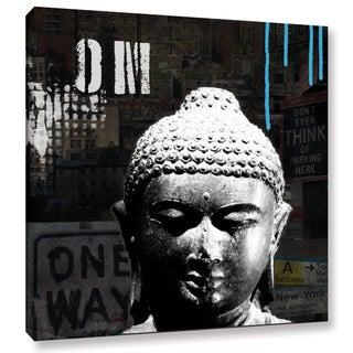 ArtWall Linda Woods's Urban Buddha I, Gallery Wrapped Canvas