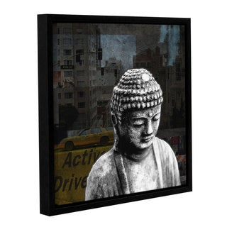 ArtWall Linda Woods's Urban Buddha II, Gallery Wrapped Floater-framed Canvas