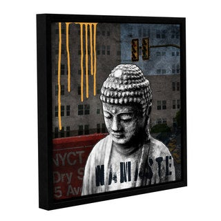ArtWall Linda Woods's Urban Buddha III, Gallery Wrapped Floater-framed Canvas