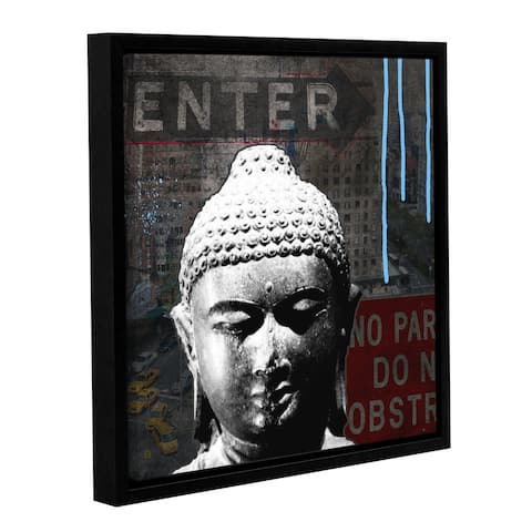 ArtWall Linda Woods's Urban Buddha IV, Gallery Wrapped Floater-framed Canvas