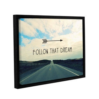 ArtWall Linda Woods's Follow That Dream, Gallery Wrapped Floater-framed Canvas