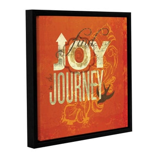 ArtWall Sally Barlow's Joy Journey, Gallery Wrapped Floater-framed Canvas