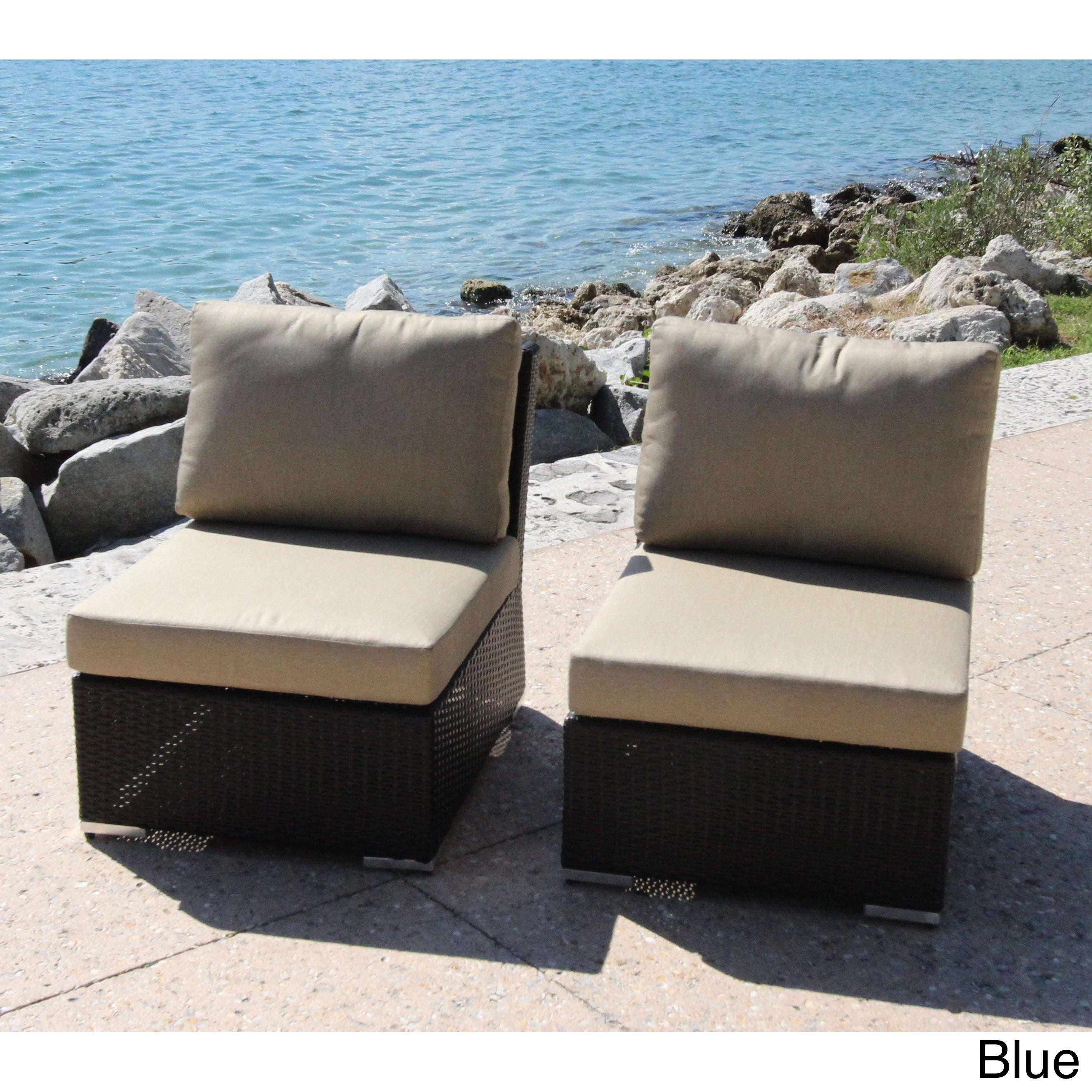 bellini home and garden marcelo armless slipper chair with cushions