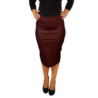Women's Fold Over Faux Leather Pencil Skirt|https://ak1.ostkcdn.com/images/products/11047063/P18059572.jpg?impolicy=medium