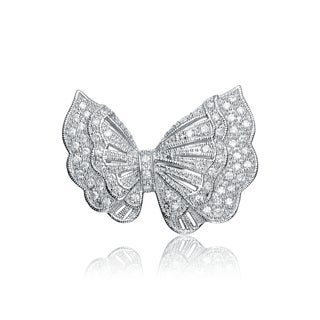 Collette Z Sterling Silver Cubic Zirconia Wild Butterfly Pin