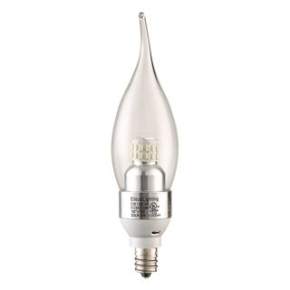 Elegant Lighting Elitco S30 C35 4-Watt 3000K E12 Clear Candle LED Bulb