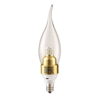Elegant Lighting Elitco S30 C35 4-Watt 4100K E12 Clear Candle LED Bulb