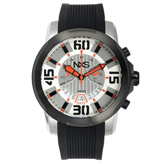 NXS Geiger Swiss Chronograph Men's Watch 22 mm Silicone Strap