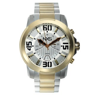 NXS Geiger Swiss Chronograph Men's Watch 22 mm Stainless Steel Bracelet