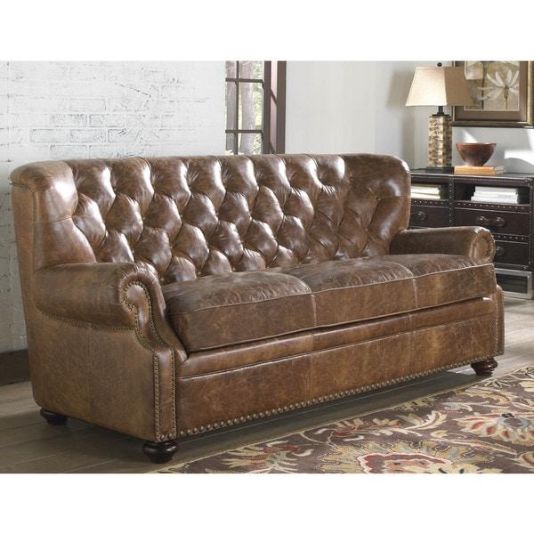 Shop Lazzaro Leather Louis Coco Brompton Sofa Free
