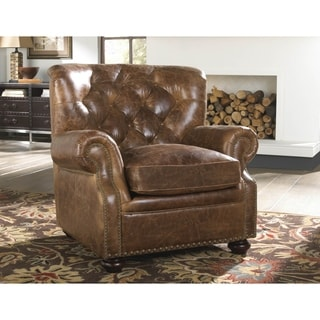Lazzaro Leather Louis Coco Brompton Chair