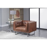 Lazzaro Leather Teague Cognac Chair