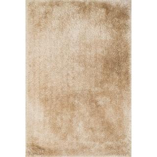 Hand-Tufted Evelyn Beige Shag Rug (9'3 x 13'0)