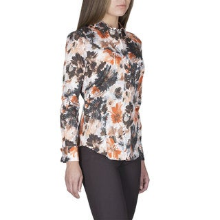 Women's Robert Talbott Multi Color Long Sleeve Blouse