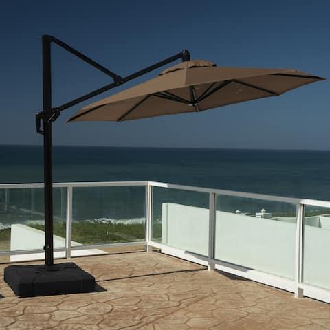 RST Brands Modular Outdoor 10-foot Round Umbrella in Moroccan Chestnut