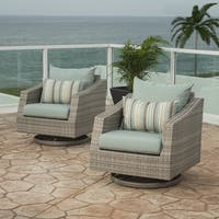 RST Brands Cannes Motion Club Chairs in Bliss Blue
