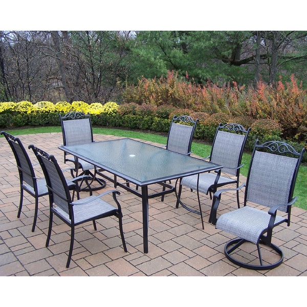 Aluminum Sling 7-piece Dining Set