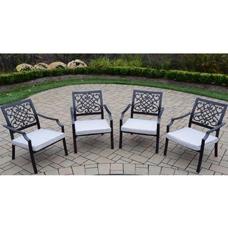Premium Stackable Aluminum Deep Seat Chat Chairs (Pack of 4)