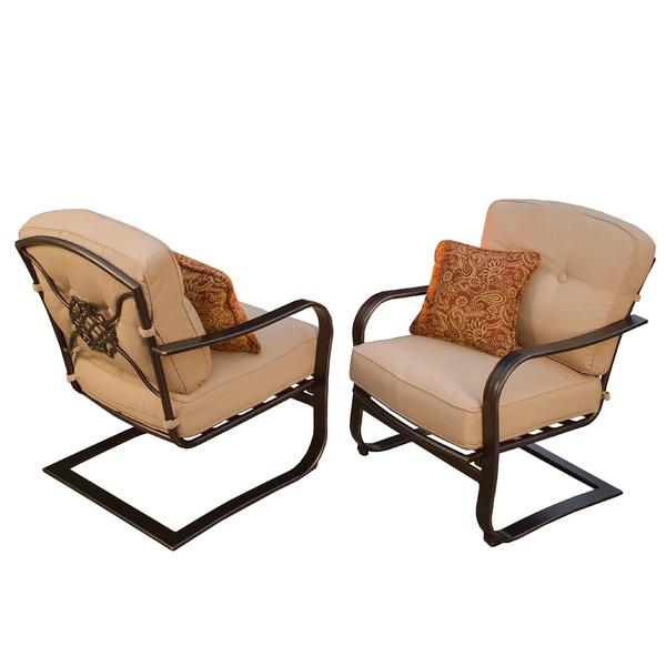 Premium Memorial Deep Seating Spring Chairs Set Of 2
