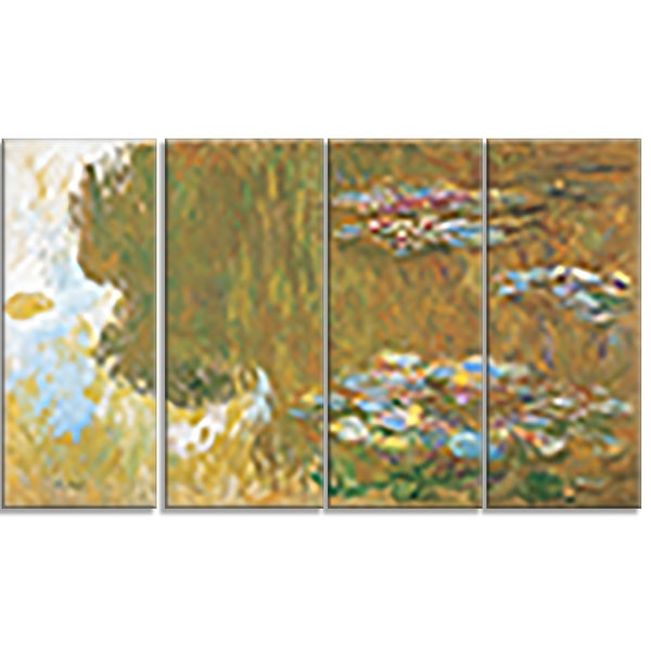 Design Art 'Claude Monet - The Water Lily Pond' Canvas Art Print