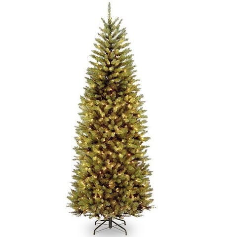 National Tree Company PowerConnect Kingswood 7.5-Foot Fir Slim Tree with Dual Color LED Lights