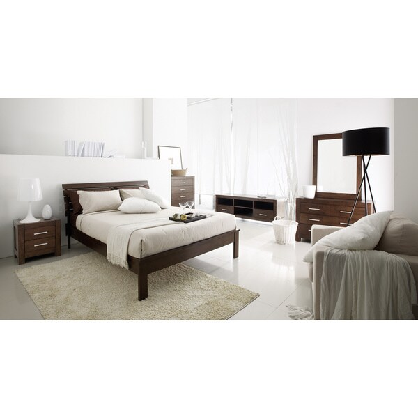 Shop Cocoa Hudson Mid Century Queen Bed On Sale Free