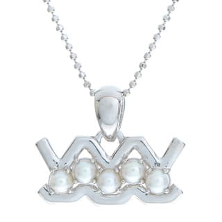Pearls For You 18 inch Sterling Silver White FWP Zodiac Pendant Necklace (2.5-3 mm) https://ak1.ostkcdn.com/images/products/11047362/P18059804.jpg?impolicy=medium