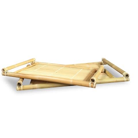 Bamboo Trays (Set of 2)