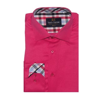 Azaro Uomo Men's Fred Fuchsia Button Down