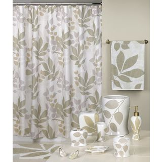 Shadow Leaves Shower Curtain and Bathroom Accessories Separates (More options available)