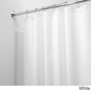 Mildew Free Water Repellent Fabric Shower Curtain Liner Option White