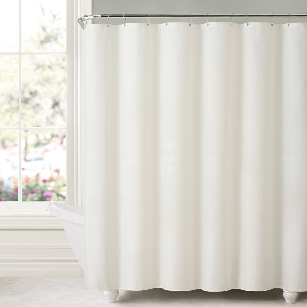 """mDesign Water Repellent Fabric Shower Curtain//Liner 72/"""" Long"""