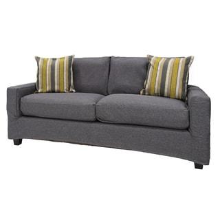 Bombay Hornell Knockdown Sofa with Grey Slipcover