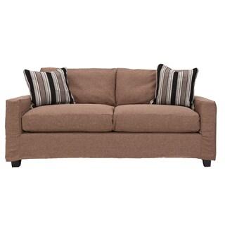 Bombay Hornell Knockdown Sofa with Pecan Slipcover