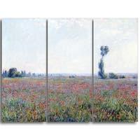 Design Art 'Claude Monet - Poppy Field' Canvas Art Print