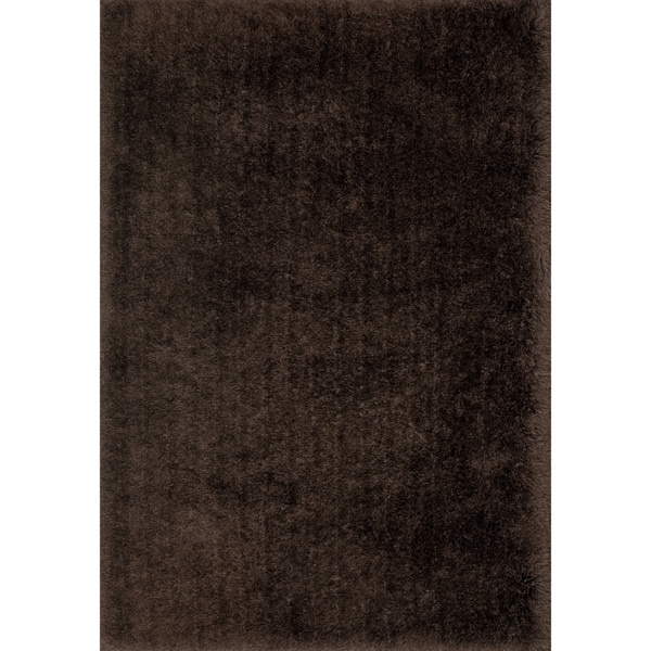 Hand-Tufted Evelyn Chocolate Shag Rug (9'3 x 13'0)
