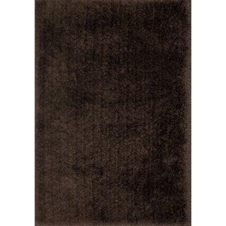 Hand-Tufted Evelyn Chocolate Shag Rug (9'3 x 13'0)