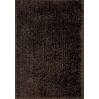 Hand-Tufted Solid Chocolate Mid-century Shag Rug - 9'3 x 13'