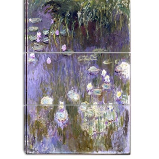 Design Art 'Claude Monet - Water Lilies' Canvas Art Print