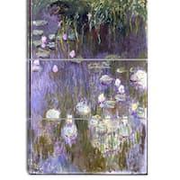 Design Art 'Claude Monet - Water Lilies' Canvas Art Print