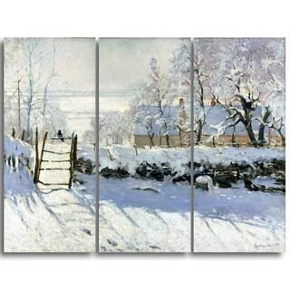 Design Art 'Claude Monet - The Magpie' Landscape Canvas Arwork