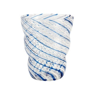 Impulse Savona Blue and White Glass (Set of 4)