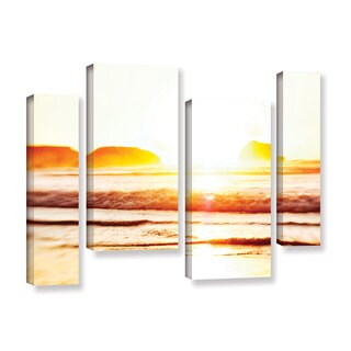 ArtWall Elena Ray 'Sunset On The Sea' 4 Piece Gallery-wrapped Canvas Staggered Set