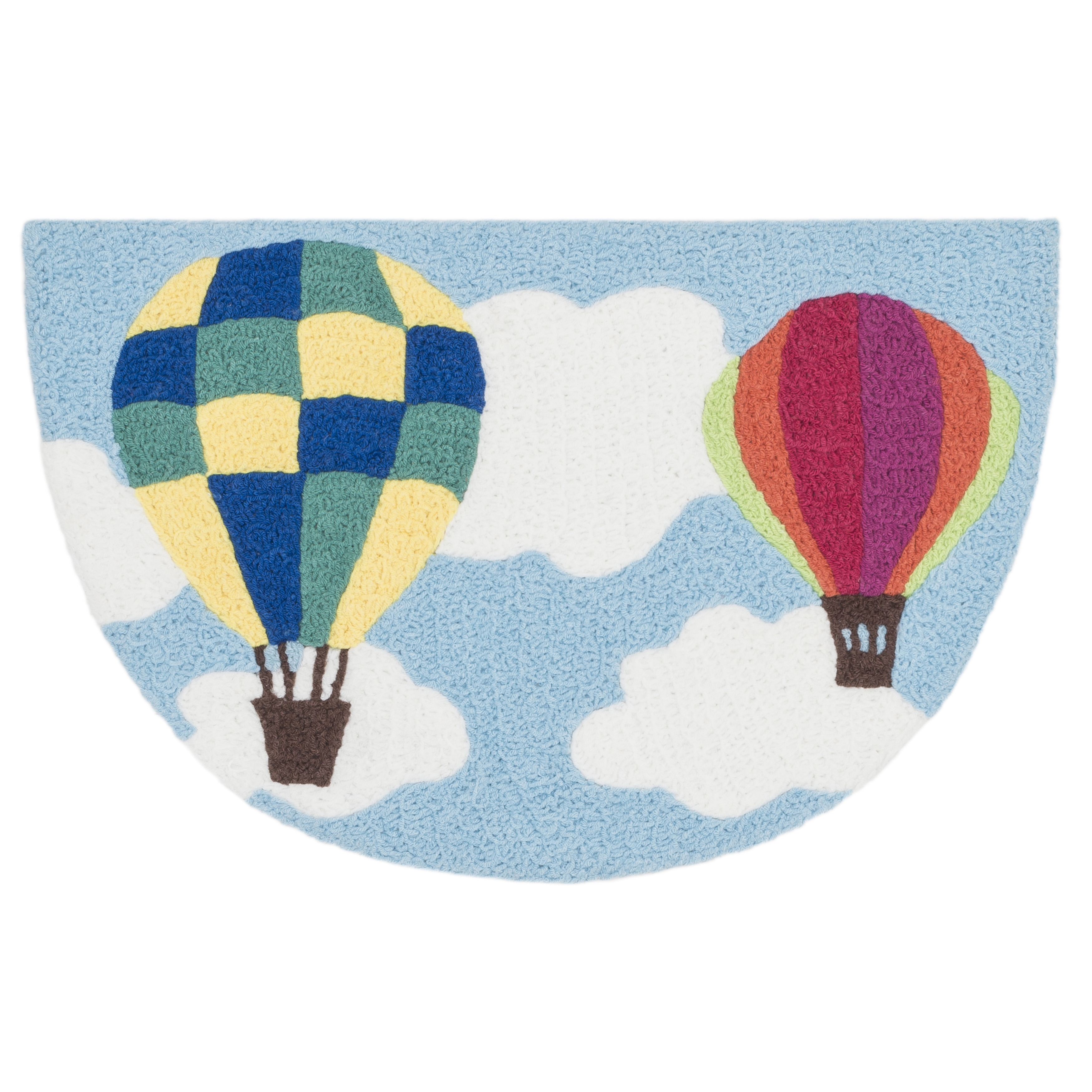 Alexander Home Hand-hooked Marcy Sky Blue/ Multi Hot Air ...