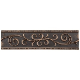 SomerTile 3x12-inch Courant Scroll Venetian Bronze Resin Liner Trim Wall Tile (Pack of 5)