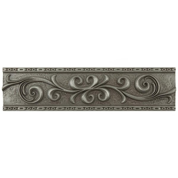 Shop Somertile 3x12 Inch Courant Scroll Pewter Mixed
