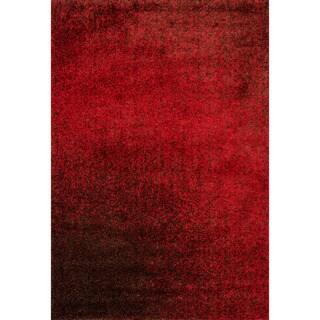 Stella Red/ Brown Shag Rug (5'2 x 7'7)