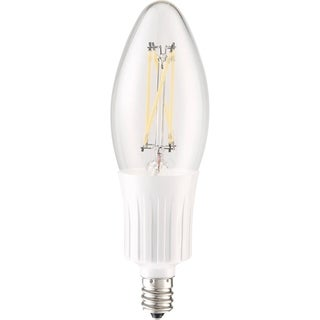 Elegant Lighting Elitco C35 4-Watt E12 4100K Clear Candle LED Bulb