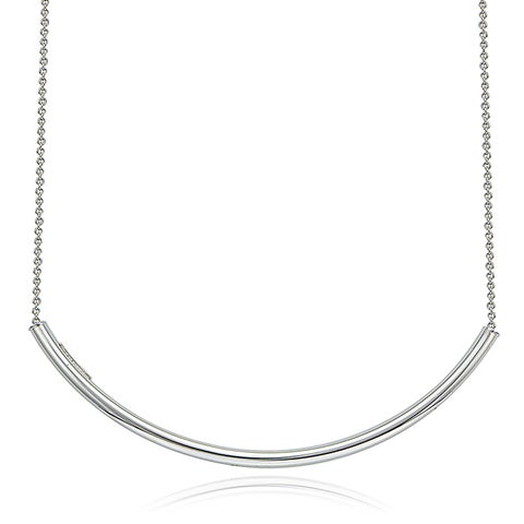 Mondevio Silver Arch Bar Necklace